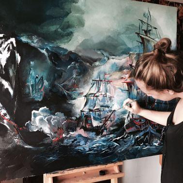 Work in Progress Sea Battle Sofie Krete