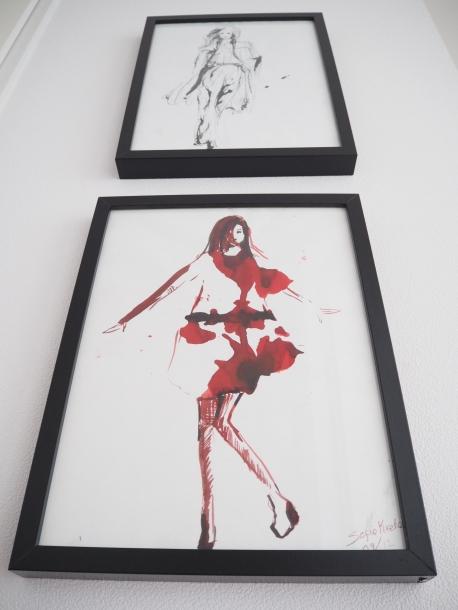 Fashion Sketch in livingroom Sofie Krete