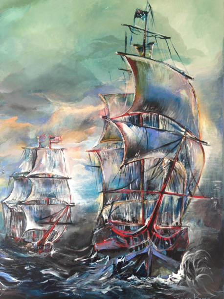Ship Painting Sofie Krete